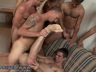 Naked guys Hell raising Bukkake with Diablo!