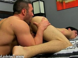 queer orgy He gets on his knees and deep throats Brocks salami before