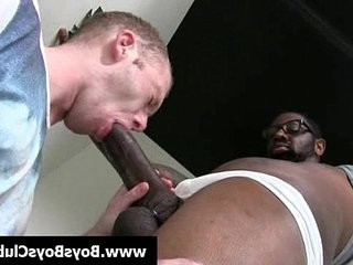 Black gay boys humiliate white slightly-muscular boys hard