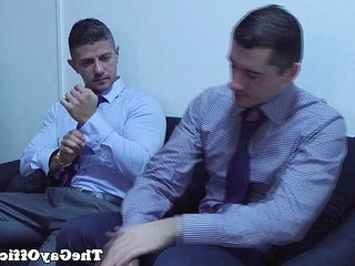 Muscular office hunk gobbles and fucks nuts