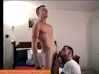 Straight boys dick sucked by old queer