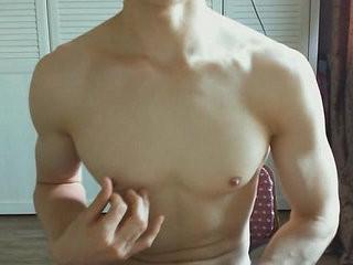 muscle hunk jerk off