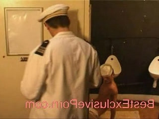 Voyeur The sailors fuck in toilet