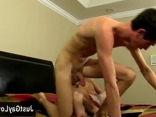 Gay jocks Preston Andrews and Conner Bradley arrive at their hotel in