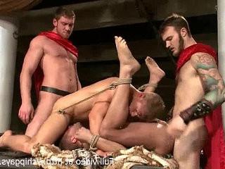 Gladiators in bdsm orgy